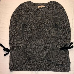 LOFT Women Sweater Color Black and White, Size S